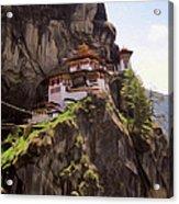 Famous Tigers Nest Monastery Of Bhutan 12 Acrylic Print