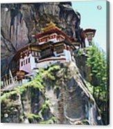 Famous Tigers Nest Monastery Of Bhutan 7 Acrylic Print