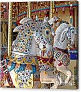 Fanciful Carousel Ponies Acrylic Print