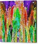 Fanciful Colors  Abstract Mosaic Acrylic Print
