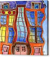 Fanciful Wavy House Painting Acrylic Print