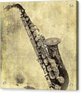 Fancy Antique Saxophone In Pastel Acrylic Print