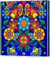 Fancy Blooms Bouquet Acrylic Print