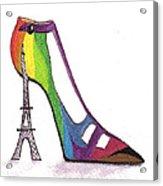 Fancy Parisian Shoe Acrylic Print
