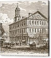 Faneuil Hall, Boston, Which Webster Acrylic Print