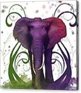 Fantasy Elepant Acrylic Print by Diana Shively