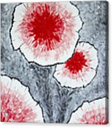 Fantasy Flowers In Red No 1 Acrylic Print