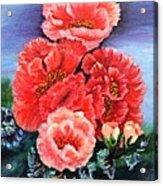 Fantasy Flowers Acrylic Print by Janis  Tafoya