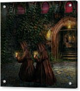 Fantasy - Into The Night Acrylic Print by Mike Savad