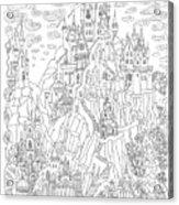 Fantasy Landscape. Fairy Tale Castle On Acrylic Print