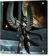 Fantasy Winged Female Warrior Acrylic Print