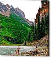 Far End Of Lake Louise In Banff Np-alberta Acrylic Print