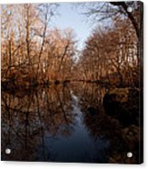 Far Mill River Reflects Acrylic Print