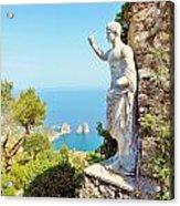 Faraglioni Rocks From Mt Solaro Capri Acrylic Print