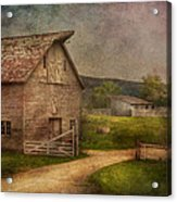 Farm - Barn - The Old Gray Barn  Acrylic Print