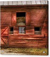 Farm - Barn - Visiting The Farm Acrylic Print by Mike Savad