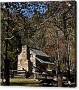 Farm Cabin Cades Cove Tennessee Acrylic Print