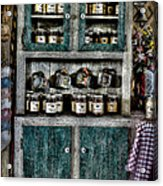Farm Cupboard Acrylic Print by David Morefield