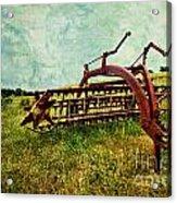 Farm Equipment In A Field Acrylic Print by Amy Cicconi