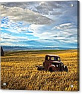 Farm Field Pickup Acrylic Print