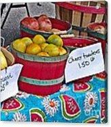 Farm Fresh Produce At The Farmers Market Acrylic Print