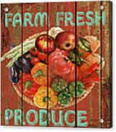Farm Fresh Produce Acrylic Print