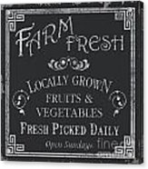 Farm Fresh Sign Acrylic Print