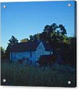 Farm Home At Dusk Acrylic Print