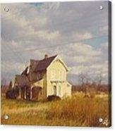 Farm House And Landscape Acrylic Print