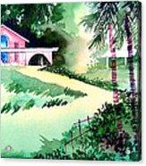Farm House New Acrylic Print by Anil Nene