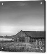 Farm In Black And White Acrylic Print