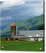 Farm In The Valley Acrylic Print