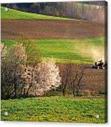 Farm Landscape Springtime Pennsylvania Acrylic Print