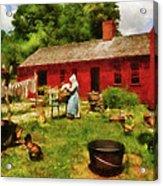 Farm - Laundry - Old School Laundry Acrylic Print by Mike Savad