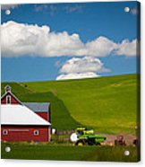 Farm Machinery Acrylic Print by Inge Johnsson