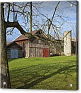Farm Scene With Barns And Silo Acrylic Print
