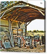 Farm Shed Digital Watercolor Acrylic Print