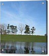 Farm Sky And Pond Acrylic Print