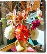 Farm Table Bouquet Acrylic Print