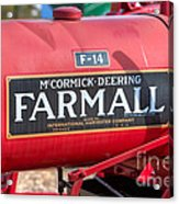 Farmall F-14 Tractor I Acrylic Print by Clarence Holmes
