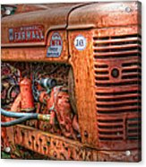 Farmall Tractor Acrylic Print by Bill Wakeley