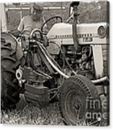 Farmer And His Tractor Acrylic Print