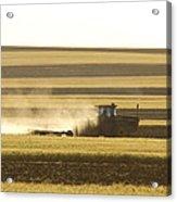 Farmer Working Acrylic Print