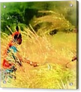 Farmers Fields Harvest India Rajasthan 1a Acrylic Print