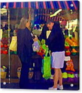 Farmers Market Bushels And Baskets Of Apples Fruit And Vegetables Food Art Scenes Carole Spandau Acrylic Print