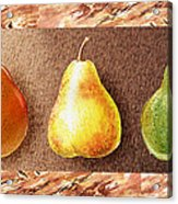Farmers Market Drive Through Red Yellow And Green Pear Acrylic Print