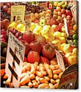 Farmers Market Acrylic Print by Karen Wiles