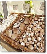 Farmers Market Mushrooms Acrylic Print