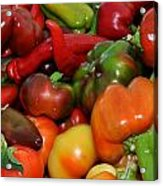 Farmers Market Peppers Acrylic Print