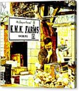 Farmers Market Vendor Acrylic Print